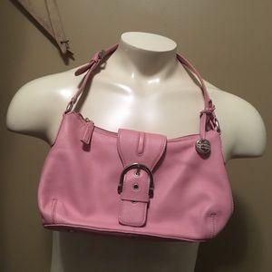 pink genuine leather handbag